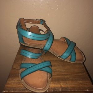 db1fccfd4e43d Clarks Shoes - Clarks Billie Jazz Sandals- 8.5 Teal Turquoise